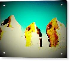 Monitors - Blue Sky Acrylic Print by Mark M  Mellon