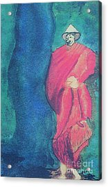 Monk Acrylic Print by Debbie Nester