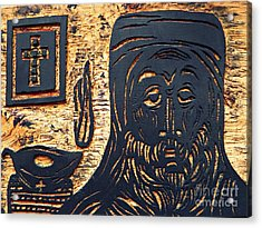Monk Acrylic Print by Sarah Loft
