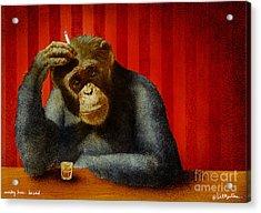 Monkey Bars...he Said... Acrylic Print by Will Bullas