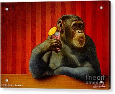 Monkey Bars...she Said... Acrylic Print by Will Bullas