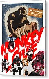Monkey Love Acrylic Print