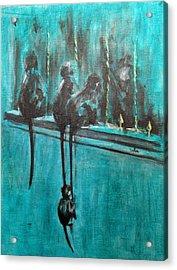 Monkey Swing Acrylic Print by Usha Shantharam