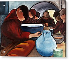 Monks At Prayer Acrylic Print