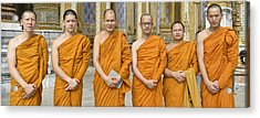 Monks At The Grand Palace Acrylic Print