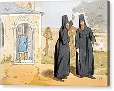 Monks, C.1804 Acrylic Print by John Augustus Atkinson