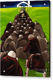 Monks Funeral Acrylic Print by William Cain