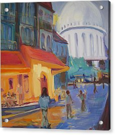 Monmartre Acrylic Print by Julie Todd-Cundiff