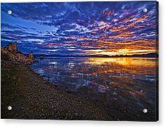 Acrylic Print featuring the photograph Mono Lake Sunrise by Priscilla Burgers