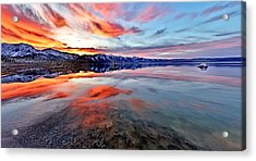 Mono Lake Sunset 2 Acrylic Print
