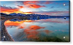 Mono Lake Sunset 3 Acrylic Print