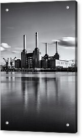 Mono Power Station Acrylic Print
