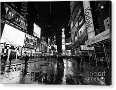 Mono Times Square  Acrylic Print by John Farnan
