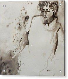 Monochrome Lady Acrylic Print