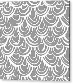 Monochrome Scallop Scales Acrylic Print