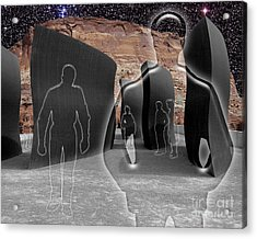 Monoliths For The Empty People Acrylic Print by Keith Dillon