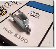 Monopoly Board Custom Painting Park Place Acrylic Print