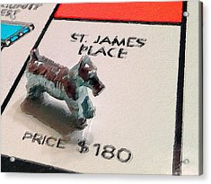 Monopoly Board Custom Painting St James Place Acrylic Print