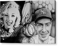 Monroe And Dimaggio Acrylic Print by Geni Gorani
