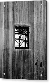 Monroe Co. Michigan Barn Window Acrylic Print by Daniel Thompson