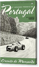 Monsanto Portugal Grand Prix 1959 Acrylic Print by Georgia Fowler
