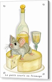 Monsieur Mouse Acrylic Print by Anne Beverley-Stamps