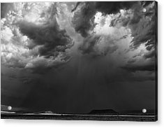 Monsoon Afternoon - Black And White New Mexico Desert Photograph Acrylic Print