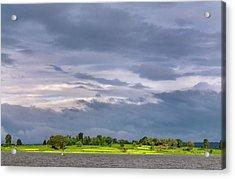 Monsoon Clouds Over Landscape Acrylic Print by K Jayaram