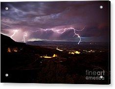 Monsoon Lightning Jerome Acrylic Print