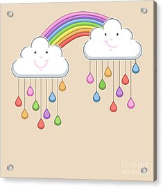Monsoon Season Background With Happy Acrylic Print by Allies Interactive