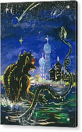 Monster In The City Acrylic Print by Amberlyn How