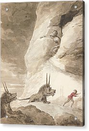Monsters Chasing A Man Acrylic Print