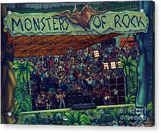 Monsters Of Rock Stage While A C D C Started Their Set - July 1979 Acrylic Print