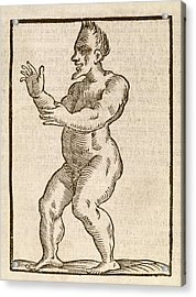 Monstrous Human Figure Acrylic Print by Middle Temple Library