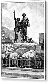 Mont Blanc First Ascent Monument Acrylic Print by Science Photo Library