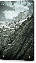 Mont Blanc Glacier Acrylic Print by Frank Tschakert