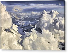Acrylic Print featuring the painting Mont Blanc by Muhie Kanawati