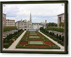 Mont Des Arts Towards The Grand Place Acrylic Print by Carol Groenen