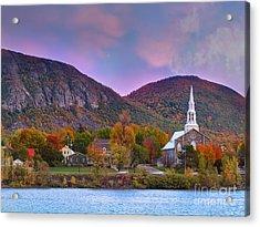 Mont-saint-hilaire Quebec On An Autumn Day Acrylic Print by Laurent Lucuix