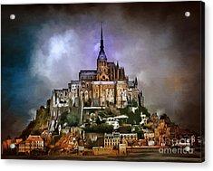 Mont Saint Michel   Acrylic Print by Andrzej Szczerski