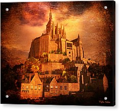 Mont Saint-michel Acrylic Print by Kylie Sabra