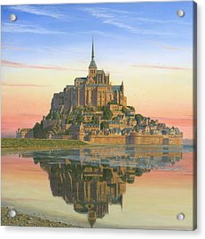 Mont Saint-michel Morn Acrylic Print by Richard Harpum