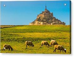 Mont St-michel Acrylic Print by Jean Surprenant