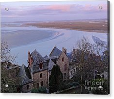 Mont St Michel Tower View Acrylic Print