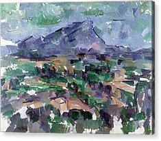 Montagne Sainte-victoire Acrylic Print by Paul Cezanne