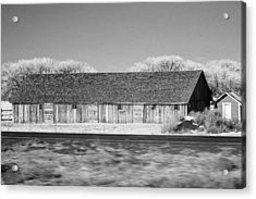 Montana Building Acrylic Print by Paul Bartoszek