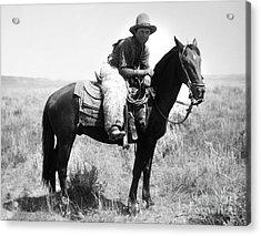 Montana Cowboy 1904 Acrylic Print by Granger