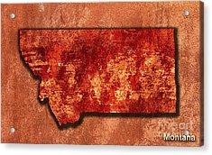 Montana Original Art Acrylic Print by Marvin Blaine
