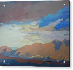 Acrylic Print featuring the painting Montana Storm by Francine Frank
