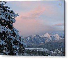 Montana Winter Acrylic Print by Joseph J Stevens